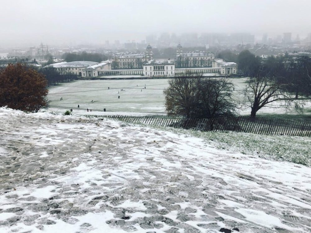 A Snow Day at Greenwich Park